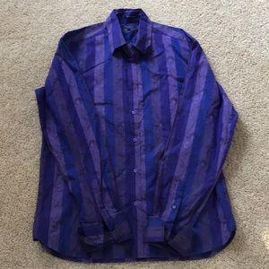 Ted Baker men's SZ 5, purple combo cotton  shirt